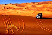 Libya Jeep Crossing Sahara Dunes