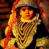 Little Rajasthani Girl In Holiday Dress