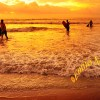 Bali Denpasar Surfers in The Sunset