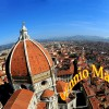 Florence Fish Eye View From Bell Tower