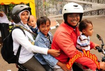 Indonesia Family On The Scooter
