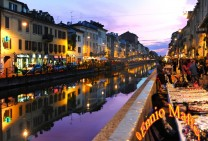 Milan False Lights On The Naviglio