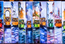 Old Trams - Oil Paintings onTablets